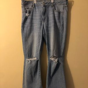 American Eagle High- Rise Kick Crop Jeans